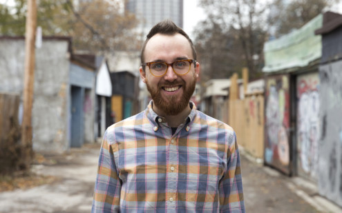 Close up of team member Jay in a laneway