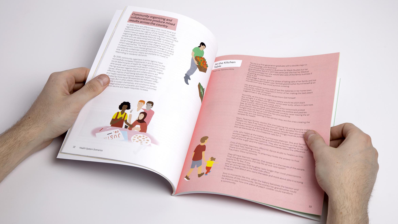 Open spread of page in the Health System Scenarios report