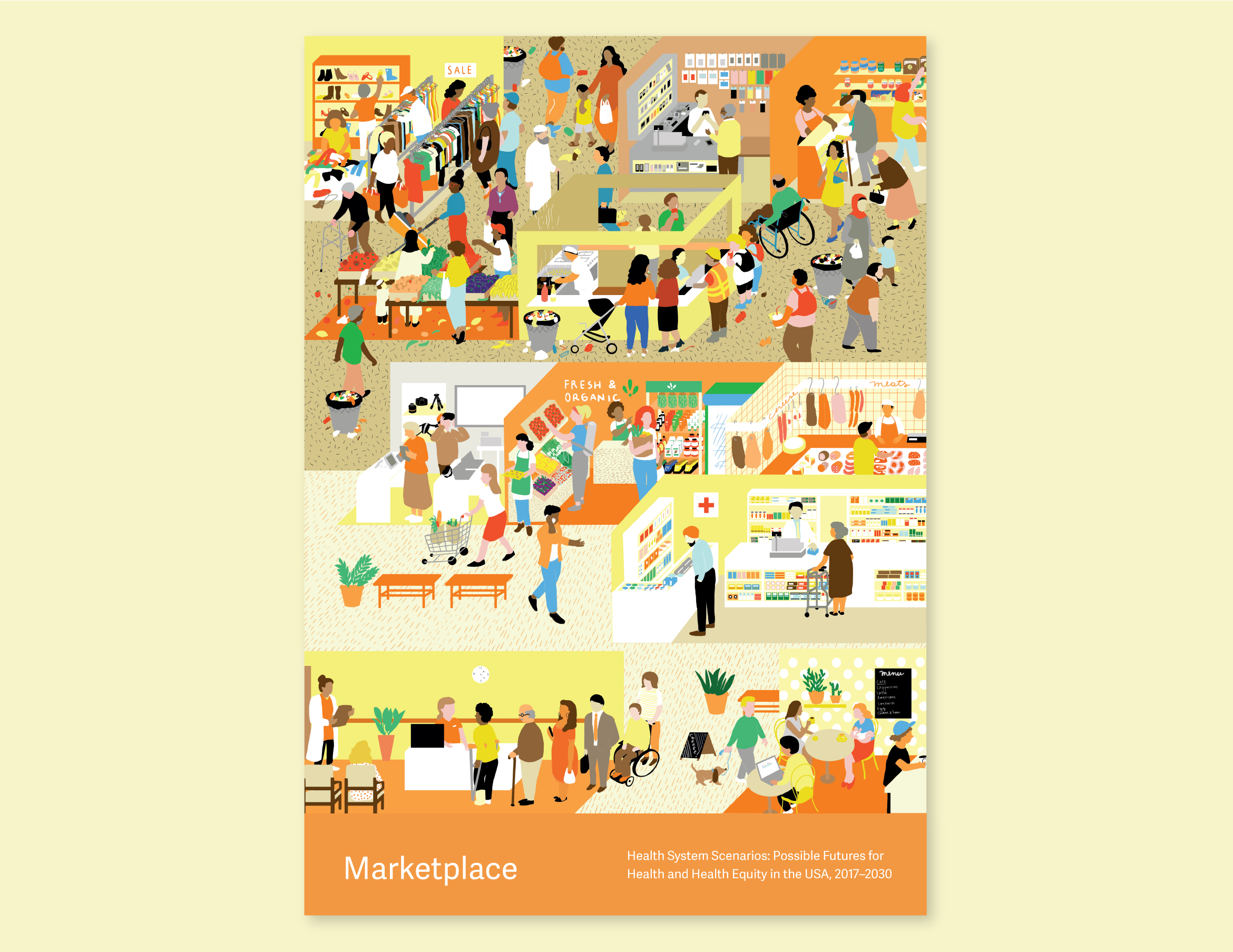 Illustration that represents the Marketplace.