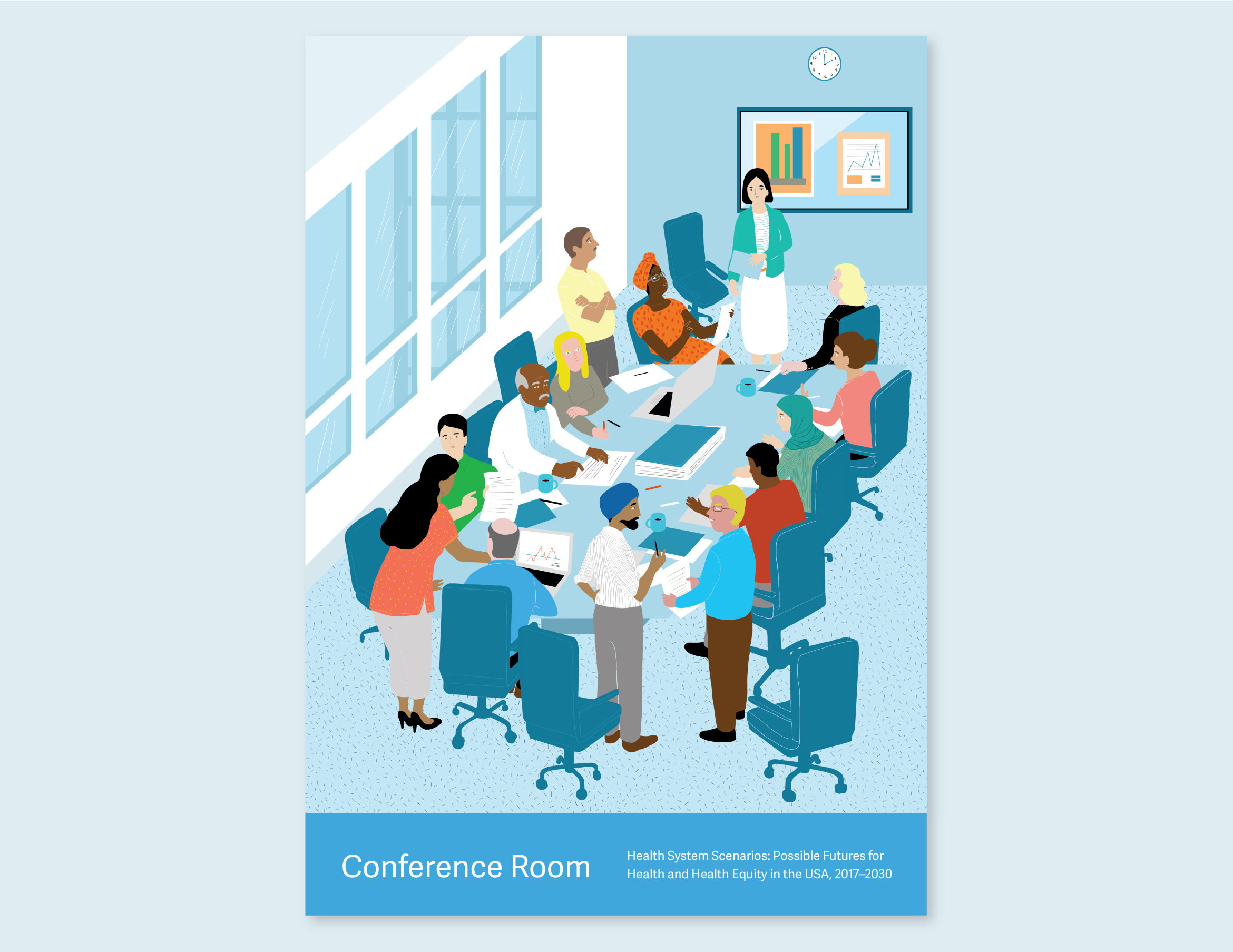 Illustration that represents the Conference Room.