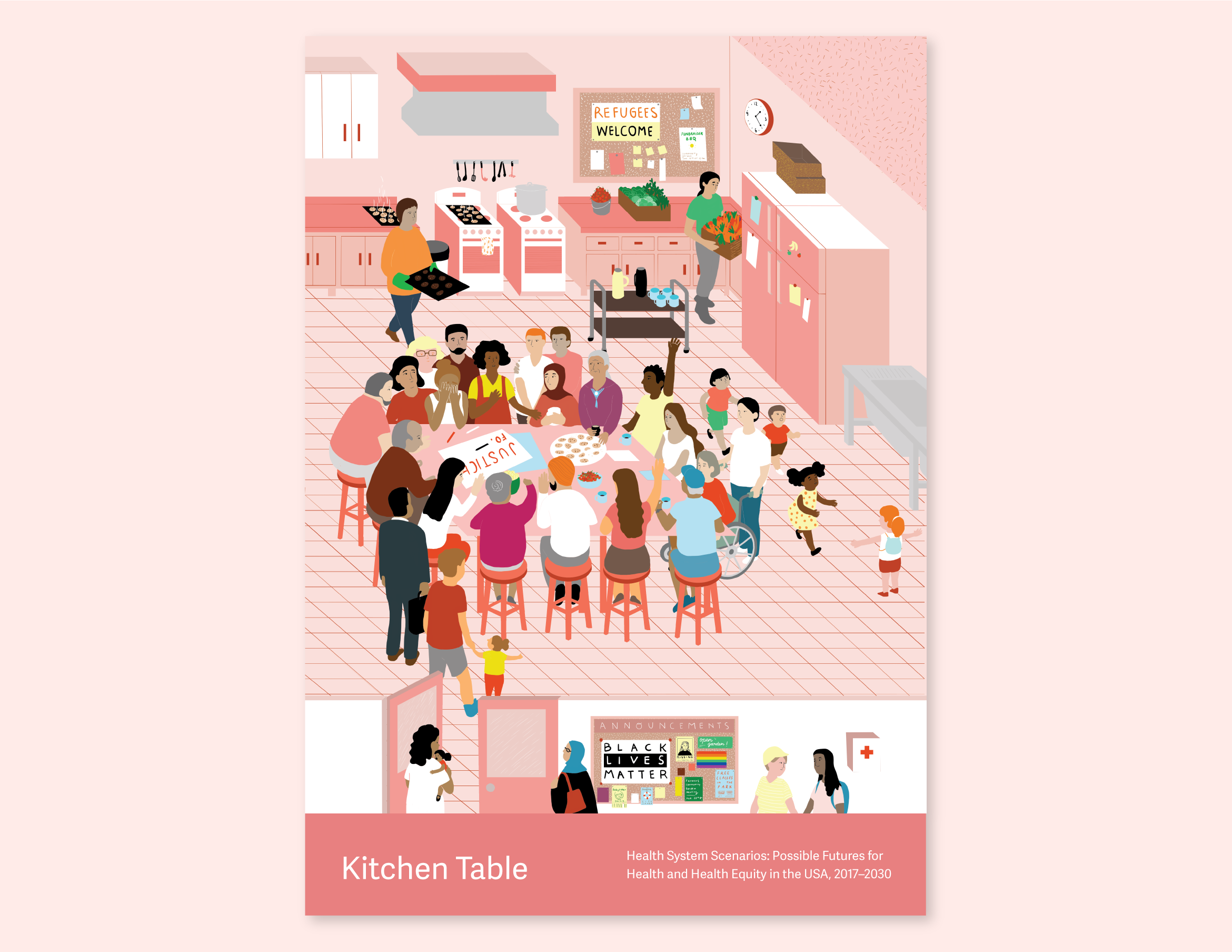 Illustration that represents the Kitchen Table.