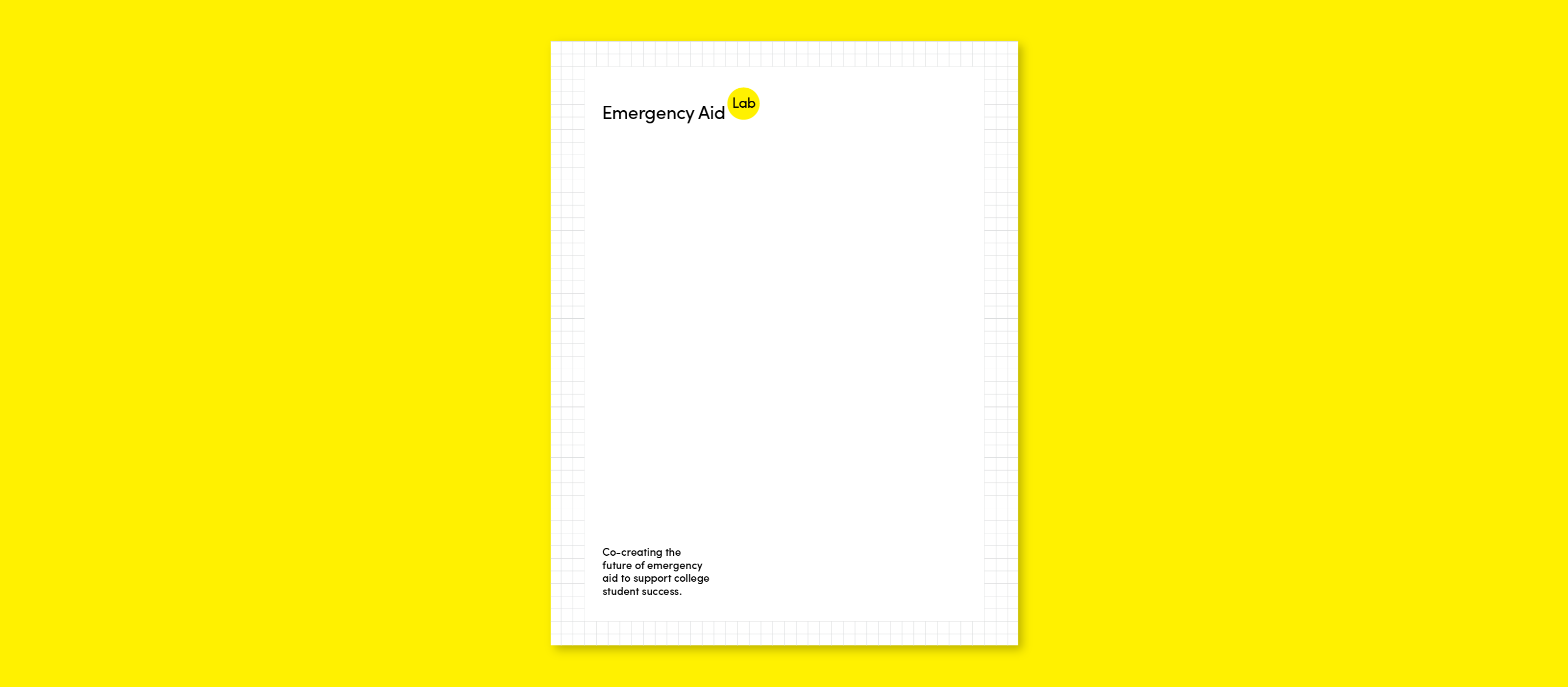Example of a letterhead for Emergency Aid Lab